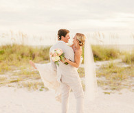 Beach wedding portrait