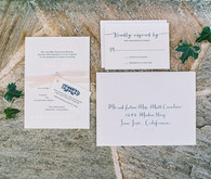 Romantic wedding invitation suite