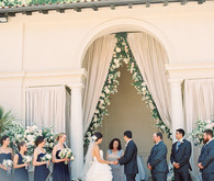 Romantic, Italian inspired wedding ceremony