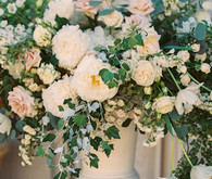 Romantic wedding florals