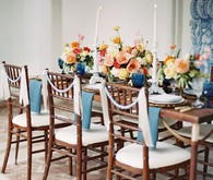 Vintage Spanish inspired wedding tablescape