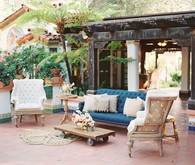 Vintage Spanish inspired lounge area