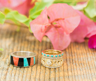 Bohemian wedding rings