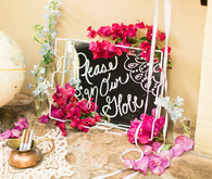Boho wedding guest book