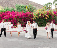 Palm Springs wedding party portrait