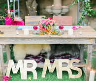 Bohemian wedding sweetheart table