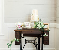 Vintage cake table display