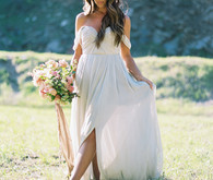 Romantic spring bridal portrait
