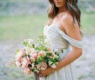 Romantic spring bridal bouquet