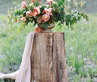 Romantic spring floral arrangement