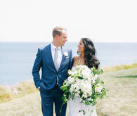 Elegant Terranea Resort wedding portrait