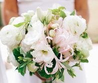 Spring wedding florals