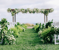 Elegant Terranea Resort wedding ceremony
