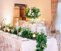 Elegant wedding tablescape