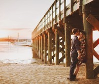 Maryland beach campground engagement portrait