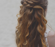 Long loose curl bridal hair