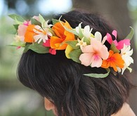 Paper flower crown