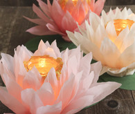 Paper flower luminaries