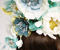 Paper flower headpiece