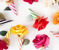 Paper flower decor
