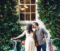 Maternity photos with bikes