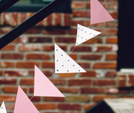 Geometric girl baby shower