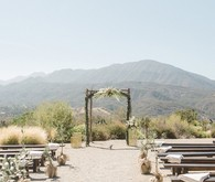 Rustic Ojai ranch wedding ceremony