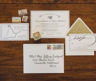 Rustic wedding invitation suite