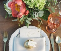 Rustic wedding place setting