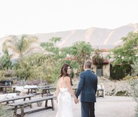 Ojai ranch wedding portrait