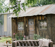 Rustic ranch lounge area