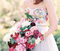 Whimsical wedding bouquet
