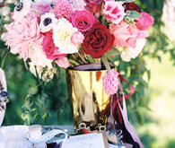 Whimsical wedding florals