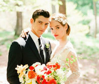 Central park wedding portrait