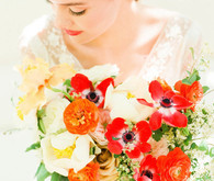Colorful summer wedding bouquet
