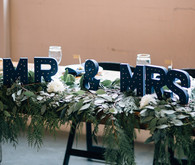 Navy wedding signage