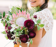 Bohemian wedding bouquets