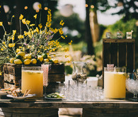 Rustic drink display
