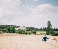 French Chateau wedding portrait