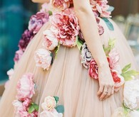 Custom designed floral wedding dress
