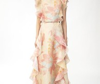 Valentino floral print wedding dress