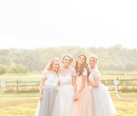 Outdoor bridesmaids portrait