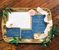 Elegant wedding invitation suite