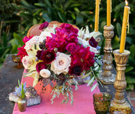 Vintage elopement place setting