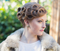 French twist with pin curls