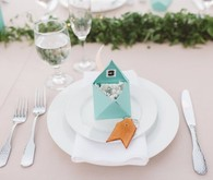 DIY modern place cards