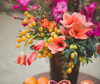 Bright floral centerpiece