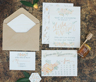 Summer wedding invitation suite