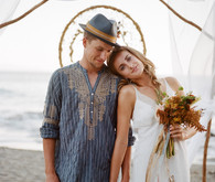 Bohemian beach elopement