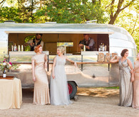 Airstream bridesmaids portrait